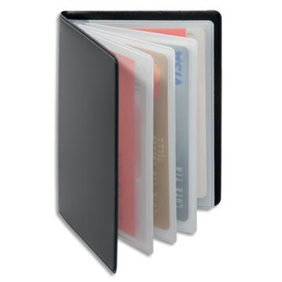 Porte-cartes Durable Anti RFIB - plastique souple - 4 pochettes 8 cartes - L7,5 x H10,2 cm - gris anthracite