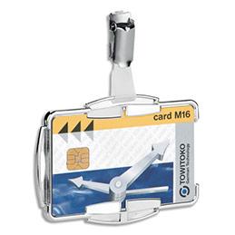 Portes-cartes Durable Anti RFIB - Mono transparent - rigide - clip métallique - L8,7 x H5,4 cm - boîte de 10
