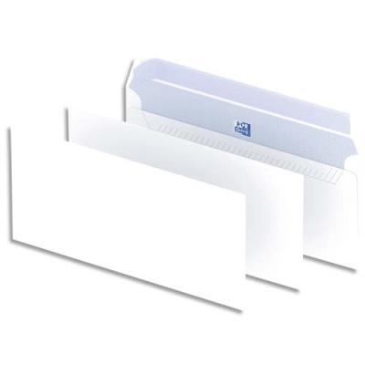 Enveloppes blanches La Couronne - auto-adhésives - 90g - 110 x 220mm DL - boîte de 200