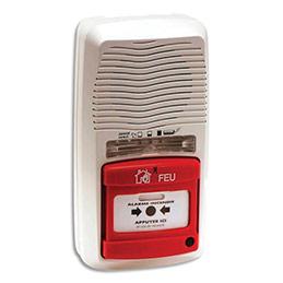 Alarme incendie type 4 Lifebox - centrale autonome sur pile - 90Db - L12,6 x H24,2 x P6,6 cm (photo)