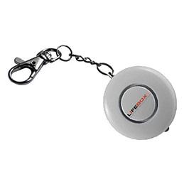 Alarme portable anti-agression Lifebox - 130 Db - chaîne porte-clés - lumière intégrée - D4,8 x P2 cm (photo)