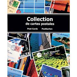 Album pour cartes postales en carton pelliculé Exacompta - capacité 200 cartes - 100 pages - 20x25,5 cm (photo)