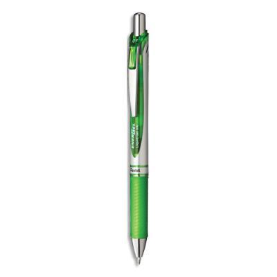 Stylo à bille Pentel energel rétractable - 0.7mm - encre à pigment infalsifiable verte