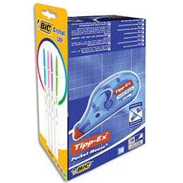 Pack de 10 correcteurs Bic Pocket Mouse + blister de Crital Up encre fun