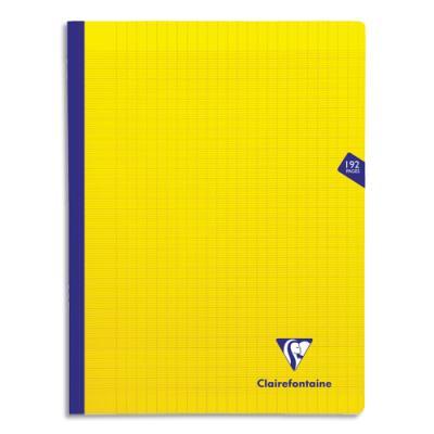 Cahier brochure Clairefontaine Mimesys - 24x32 - 192 pages - Séyès - couverture polypropylène jaune