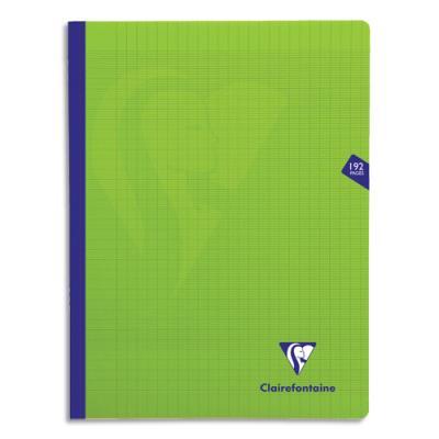 Cahier brochure Clairefontaine Mimesys - 24x32 - 192 pages - Séyès - couverture polypropylène - vert