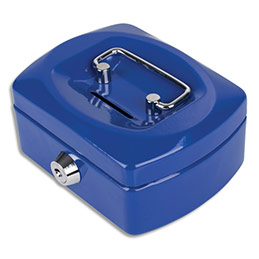Caissette à monnaie Pavo 12,5cm fente d'insertion+6 compartiments internes - bleu Kobalt glossy (photo)
