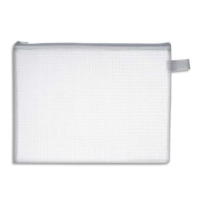 Pochette zippée JPC pour le courrier - en PVC renforcé - semi-transparente - 17x13 cm - ép 0,5 cm (photo)