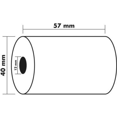 Bobine carte bancaire Exacompta - 57x40x12mm - 18 mètres - papier thermique 1 pli sans Bisphénol A - 55g (photo)