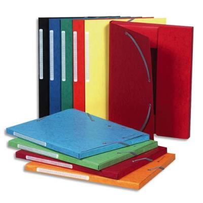 Chemise Exacompta Maxi Capacity - 3 rabats et élastique - carte lustrée 425g - coloris assortis