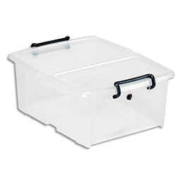 Boîte de rangement CEP SmartBox Strata - 20L - en PP - L46 x H19 x P37 cm - transparent (photo)