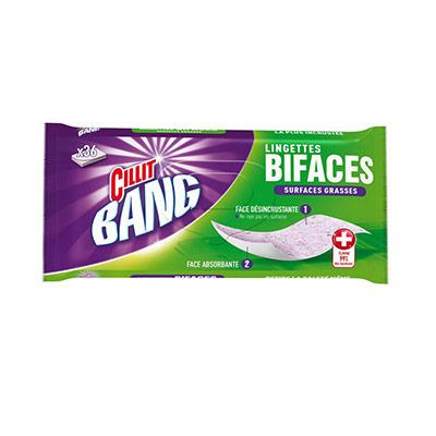 Lingettes dégraissantes bifaces - senteur fraîche - paquet de 36 -paquet 36 unités