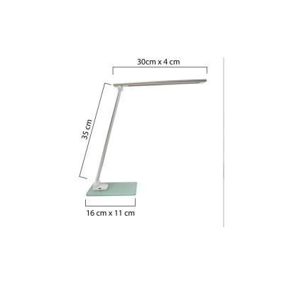 Lampe de bureau LED Popy - puissance 5W - durée 50 000h - gris métal
