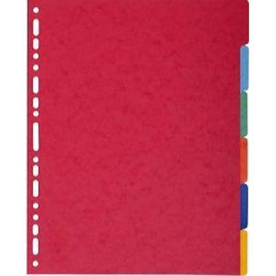 Intercalaires touches neutres Exacompta - carte 400 g - format A4+ - 6 positions