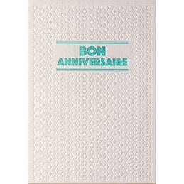 Carte de vœux Papette Sparkle2 Bon anniversaire - carte relief 430g deux faces + env kraft - 115 x 165mm (photo)