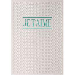Carte de vœux Papette Sparkle2 Je t'aime - carte relief 430g deux faces + env kraft - 115 x 165mm (photo)