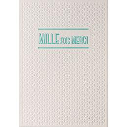 Carte de vœux Papette Sparkle2 Mille fois merci - carte relief 430g deux faces + env kraft - 115 x 165mm (photo)