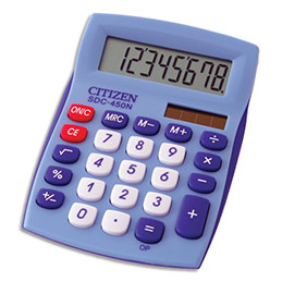 Calculatrice de bureau Citizen - 8 chiffres - bleue (photo)