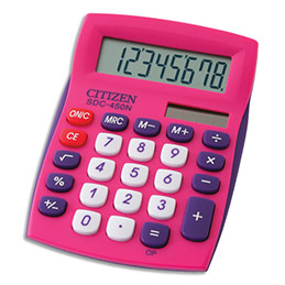 Calculatrice de bureau Citizen - 8 chiffres - rose (photo)