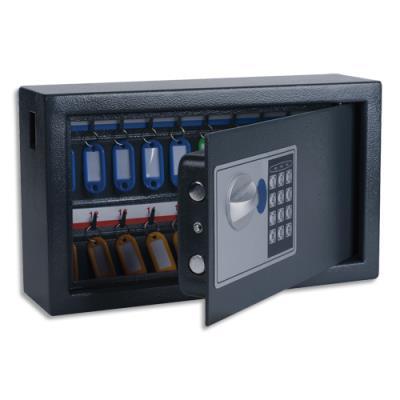 Armoire à clés électronique Pavo - L34,7 x H20,5 x P14,7 cm - gris foncé - capacité 20 clés (photo)