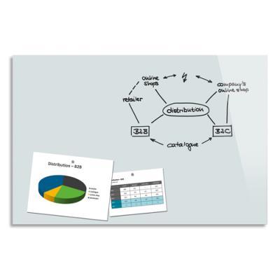 Tableau en verre magnétique Be Board - 90 x 60 cm - blanc