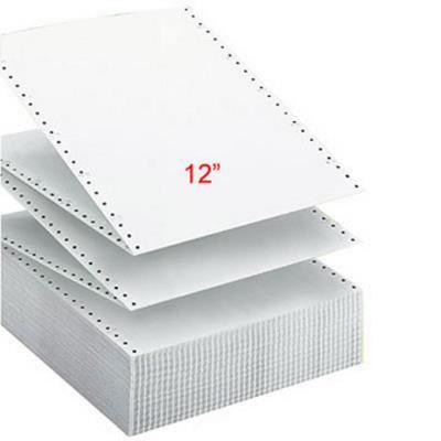 Papier listing Exacompta 305 x 240 mm  blanc - 2 plis autocopiants : 56+57g/m² - carton de 1000 feuilles