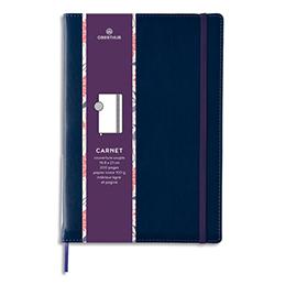 Carnet Oberthur Carmen - 151 x 215mm - 200 pages lignées/paginées - couverture PU - bleu (photo)