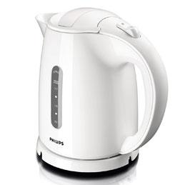 Bouilloire Philips Daily - capacité 1,5 litres - 2400W - L16,6 x H24,9 x P23 cm - blanc (photo)