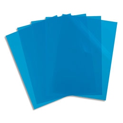 Pochettes coin Elba - PP lisse 12/100e - bleu - sachet de 10