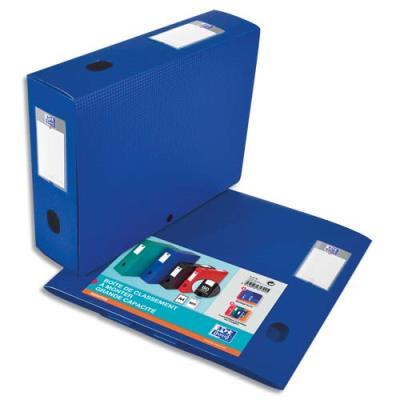 Boîte classement non montée Elba Memphis - PP 7/10e - dos 8 cm - bleu (photo)