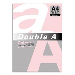 Papier couleur double a a4 80 g coloris rose pastel ramette de 25 feuilles
