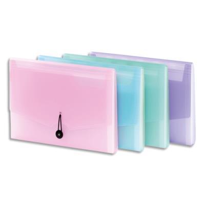 Trieur ménager 6 cmpts Viquel Propysoft - PP 6,5/10 translucide poudré - coloris assortis rose, mauve, bleu, vert
