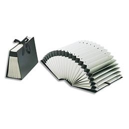 Trieur accordéon alphabétiques Jalema Diplo-Line - exterieur noir intérieur blanc (photo)
