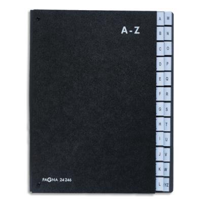 Trieur alphabétique Durable - int papier recyclé - 24 compartiments (A-Z) - 26,5 x 34 cm - noir