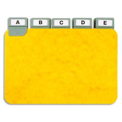 Guides à onglet métallique - 10x15 cm - pour boîte à fiches - format A6 paysage/horizontal - jeu de 25 (photo)