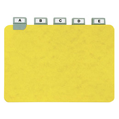 Guides à onglet métallique - 14,8x21 cm - pour boîte à fiches - format A5 paysage/horizontal - jeu de 25