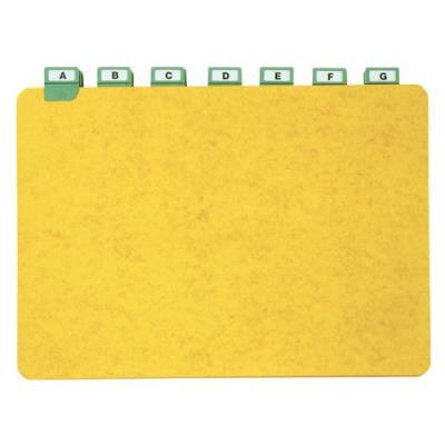 Guides à onglet métallique - 21x29,7 cm - pour boîte à fiches - format A4 paysage/horizontal - jeu de 25 (photo)