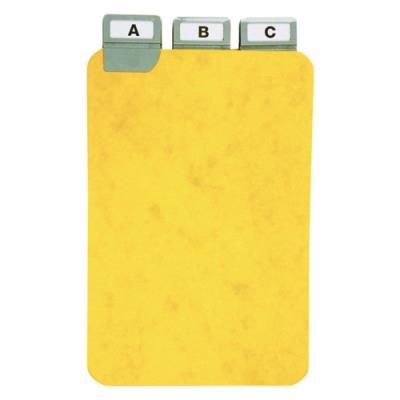 Guides à onglet métallique - 15x10 cm - pour boîte à fiches - format A6 portrait/vertical - jeu de 25 (photo)