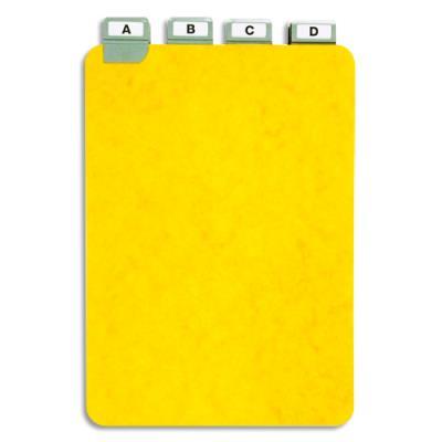 Guides à onglet métallique - 21x14,8 cm - pour boîte à fiches - format A5 portrait/vertical - jeu de 25 (photo)