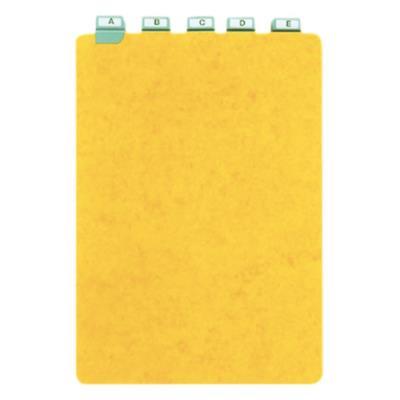 Guides à onglet métallique - 29,7x21 cm - pour boîte à fiches - format A4 portrait/vertical - jeu de 25 (photo)