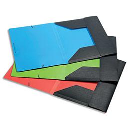 Chemise 3 rabats élastique Viquel OfficeDesign - PP 5/10e gris anthracite - coloris assortis bleu, vert, corail (photo)