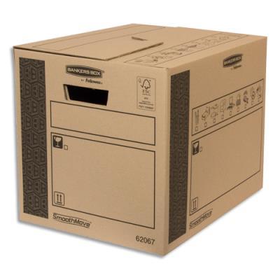 Caisse multi-usage Bankers Box - 32 x 32 x 40 cm - montage automatique - 100% recyclé et recyclable