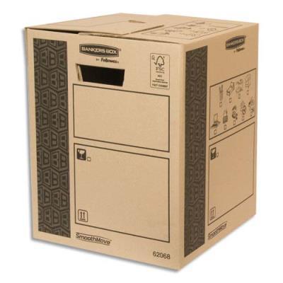 Caisse multi-usage Bankers Box - 30 x 37 x 30 cm - montage automatique - 100% recyclé et recyclable
