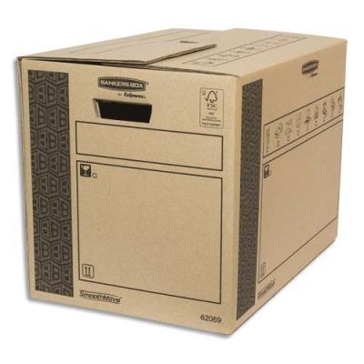 Caisse multi-usage Bankers Box - 35 x 37.5 x 50 cm - montage automatique - 100% recyclé et recyclable