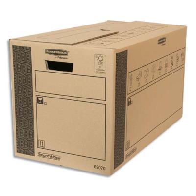 Caisse multi-usage Bankers Box - 35 x 37 x 66 cm - montage automatique - 100% recyclé et recyclable