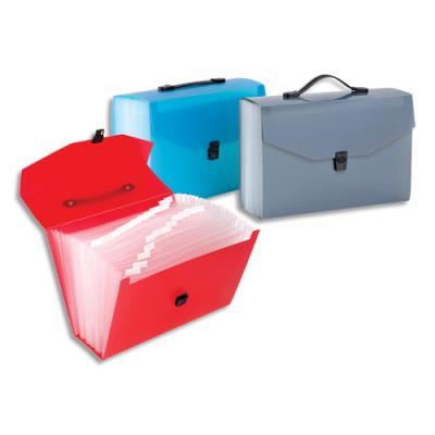 Trieur valise 24cmpts Viquel Propyglass - PP 10/10 translucide - coloris assortis bleu, rouge, gris
