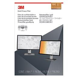 Filtre de confidentialité 3M - or - pour PC fixe de 22