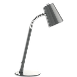 Led Gris CmH40 Cm Unilux Flexio 3 Métal 13 Socle D15 4 Tête Lampe 8n0Nwm