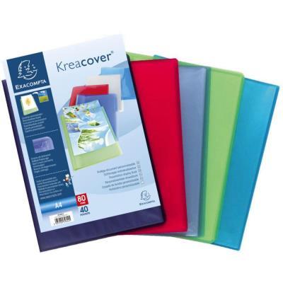 Protège document personnalisable Exacompta Kreacover - polypropylène - 80 vues - coloris assortis