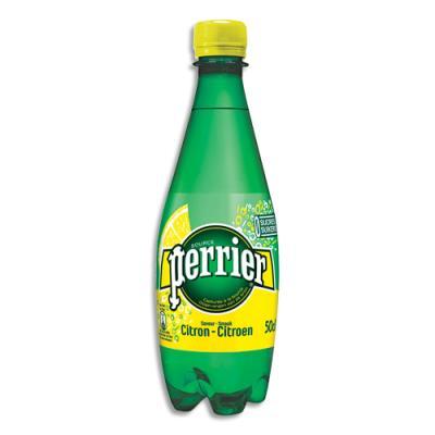 Eau pétillante minérale Perrier - arôme Citron - bouteille de 50cl (photo)